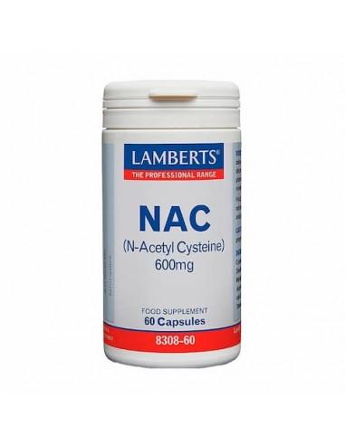 Nac (N-Acetil-Cisteína) 600 Mg 60 Caps.