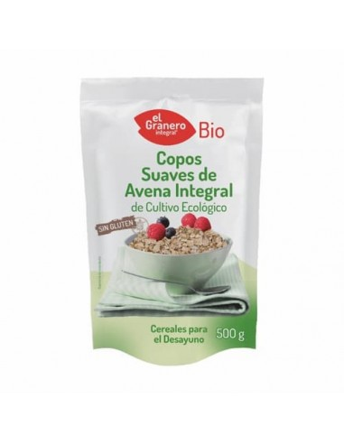 Copos de Avena Suaves Bio sin Gluten 500 Gr
