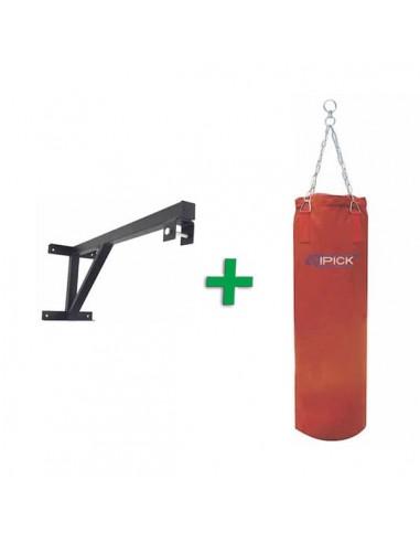 Saco de Boxeo de Lona 120cm + Soporte para Pared