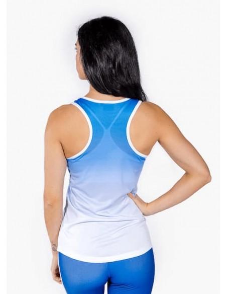 Camiseta de Tirantes Chica Gradient Blue