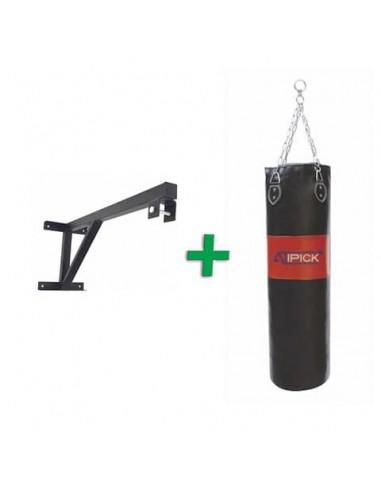 Saco de Boxeo PVC + Soporte de Pared