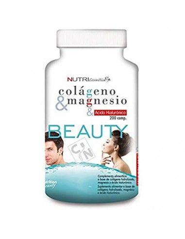 Beauty Colageno & Magnesio & Ácido Hialuronico 200 Tabs - Nutrispor