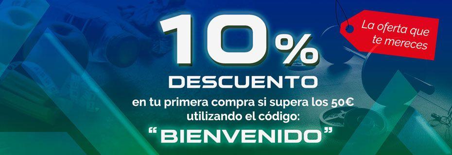 10% Descuento código BIENVENIDO
