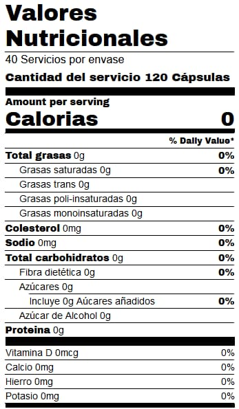 Beta Alanine Be3 120 Caps - Starlabs Nutrition info
