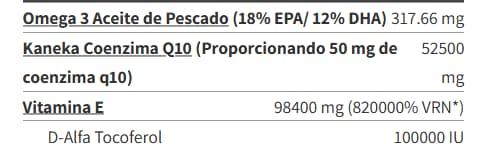 Omega3 Ubiquinol Co-Q10 - 60 caps info