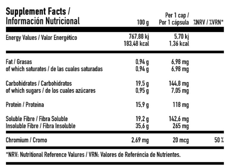 información nutricional cheats 90 caps