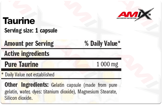 taurine 120 capsulas info