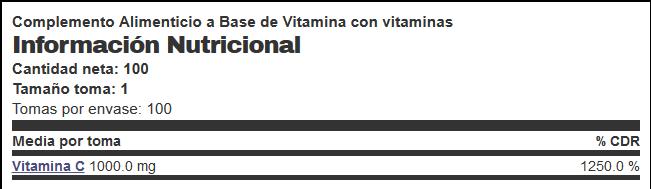 vitamina c info