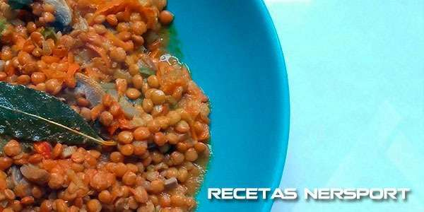 Lentejas con setas al curry