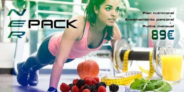 Dieta + Rutina de entrenamiento + Sesión de entrenamiento: NERPACK 3 en 1
